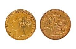 Sovereign 1880 del oro imagen de archivo