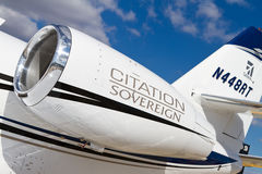 Sovereign de citation de Cessna Photo stock