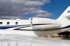 Sovereign de citation de Cessna Image stock