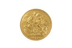 Sovereign dell'oro Fotografie Stock