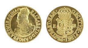 Sovereign dell'oro della Elizabeth I fotografia stock