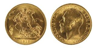 Sovereign do ouro imagens de stock