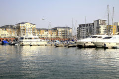 Sovereign harbor, Eastbourne, UK. Stock Images