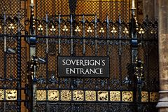 Sovereigns Entrance Westminster Royalty Free Stock Image