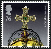 The Sovereigns Orb UK Postage Stamp Stock Photos