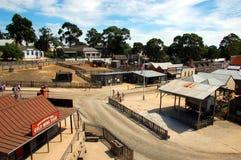 Sovereing hill, Ballarat, Australia. Sovereign Hill is an open air museum in Golden Point, a suburb of Ballarat, Victoria, Australia. Sovereign Hill depicts Royalty Free Stock Photos