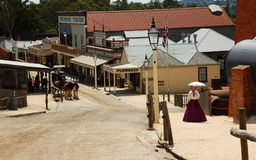 Sovereing hill, Ballarat, Australia. Sovereign Hill is an open air museum in Golden Point, a suburb of Ballarat, Victoria, Australia. Sovereign Hill depicts Royalty Free Stock Photography