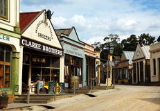 Sovereing hill, Ballarat, Australia. Sovereign Hill is an open air museum in Golden Point, a suburb of Ballarat, Victoria, Australia. Sovereign Hill depicts Stock Images