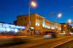 Sovetskaya Street in the evening in Gomel, Belarus Royalty Free Stock Images