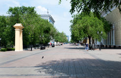 Sovetskaya Street, a pedestrian street located in the historic c Stock Photography