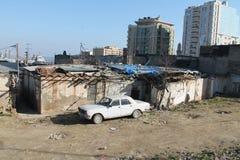 Sovetski zaniechany Volga GAZ24 Baku Azerbejdżan Obraz Royalty Free