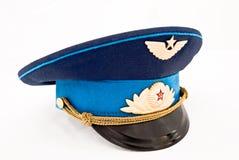 Soviet air force officer cap stock image