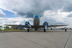 Soviet aircraft Lisunov Li-2, Hungarian airline Malev Stock Photos