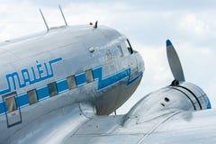 Soviet aircraft Lisunov Li-2, Hungarian airline Malev Royalty Free Stock Photo