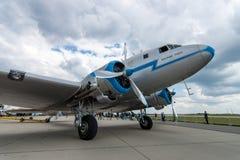 Soviet aircraft Lisunov Li-2, Hungarian airline Malev Royalty Free Stock Photography
