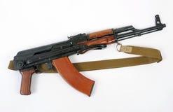 Soviet AKMS (AK47) assault rifle. The Russian AKM (Avtomat Kalashnikova Modernizirovanniy - automatic rifle Kalashnikov modernized). The AKM is an upgrade of the Royalty Free Stock Images