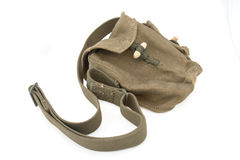 Soviet ammunition bag for cartridge-drum Royalty Free Stock Photo
