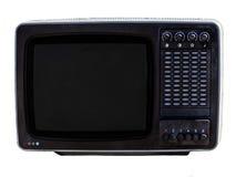Soviet analog retro TV on white background. royalty free stock photo