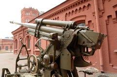 Soviet anti-aircraft gun of the Second World War. Stock Photography