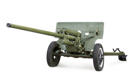 Soviet anti-tank 57-mm gun ZIS-2 during the Second World War Stock Images