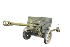 Soviet antitank cannon from WWII Royalty Free Stock Images
