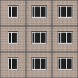 Soviet architecture beige unified panel house pattern texture element. With tiled facade Royalty Free Stock Photography