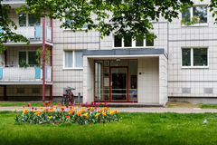 Soviet architecture in East Berlin apartment bulding from cold w Royalty Free Stock Photography