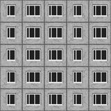 Soviet architecture grey unified panel house pattern texture element.  Royalty Free Stock Photo