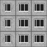 Soviet architecture grey unified panel house pattern texture element.  Stock Image