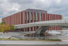 The soviet architecture of Katowice, Poland royalty free stock images