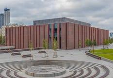 The soviet architecture of Katowice, Poland stock photos