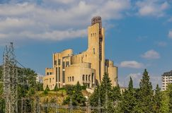 The soviet architecture of Tbilis royalty free stock photo