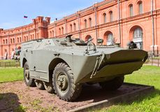 Soviet armored vehicle 9P110 of 9K14 Malyutka missile complex Stock Images