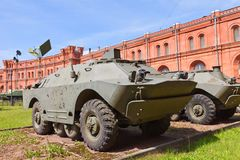 Soviet armored vehicle 9P148 of 9M113 Konkurs missile complex Stock Image