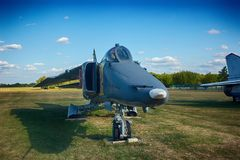 Soviet Armoured Military Attack Aircraft At Aerodrome. Plane Designed To Provide Close Air Support For Troops. In Fighting Day And Night In Any Weather royalty free stock image