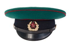 Soviet army border guard soldiers cap Royalty Free Stock Photography