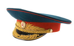 Soviet army cap royalty free stock photo