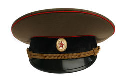 Soviet Army cap Stock Photos