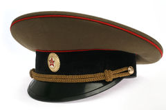 Soviet Army cap. On a white background Royalty Free Stock Images
