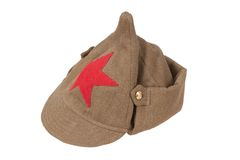 Soviet army cap Stock Images