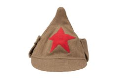 Soviet army cap isolated Stock Photo