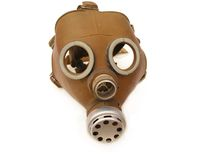 Soviet army gas mask. Isolated on white background Royalty Free Stock Photos