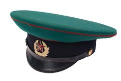 Soviet army kgb soldiers cap Stock Images