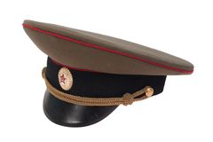 Soviet army officer's cap Royalty Free Stock Photography