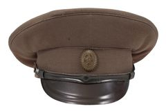 Soviet army officer's field cap Stock Photo