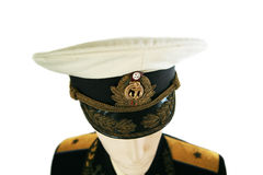 Soviet army officer in uniform Royalty Free Stock Photos