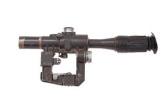 Soviet army sniper scope Stock Photography