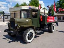 Soviet army truck GAZ AA on Victory Day Stock Photo