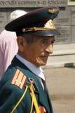 Soviet Army veteran. SLAVIANSK, UKRAINE - MAY 9, 2012: MAY 9: Unidentified Soviet Army veteran of World War II on Victory day in Slaviansk on May 9, 2012 Stock Photography