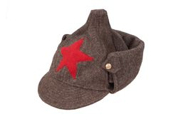 Soviet army winter cap Royalty Free Stock Photo
